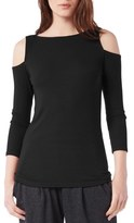 Michael Stars Rib Knit Cold Shoulder Top