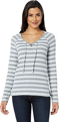 Lucky Brand Women's LACE-UP Henley TOP