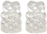 Simon Sebbag Sterling Silver Crisscross J Earrings