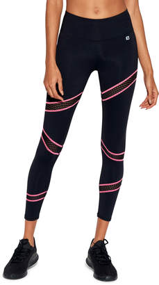 Body Language Sportswear Slash Ankle Leggings with Mesh
