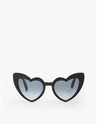Saint Laurent Lou Lou heart shaped sunglasses