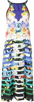 Mary Katrantzou 'Rebel' dress - women - Silk/Lamb Skin - 8