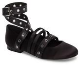 Kenneth Cole New York Women's Wade Grommet Ankle Wrap Flat