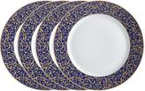 Mikasa Parchment Cobalt Set of 4 Round Dinner Plates