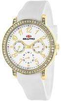 Seapro SP4411 Women's Swell White Silicone Watch with Crystal Accents