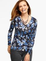 Talbots Merino Wool V-Neck Sweater - Arbor Flowers