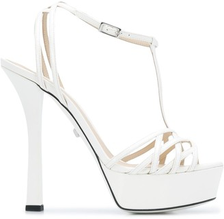 Grey Mer Open Toe Platform Sandals