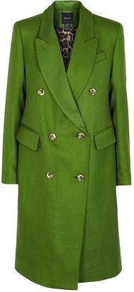 Smythe Green Herringbone Coat