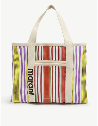 Isabel Marant Warden striped canvas tote bag