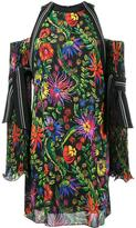 3.1 Phillip Lim floral print off-shoulder dress - women - Silk/Spandex/Elastane/Viscose - 0