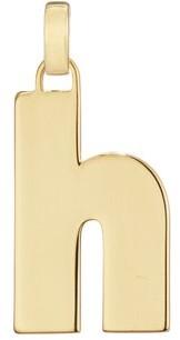 Jenny Bird Modernist Monogram Necklace H, Gold