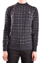 Fred Perry Women's Black Wool Sweater.