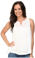 Lucky Brand Solid Novelty Tank Top