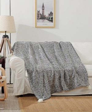 """Small World Home Reese 50"""" x 60"""" Woven Throw Blanket"""