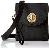 Baggallini Gold International Athens Rfid Crossbody BLKSND Wallet