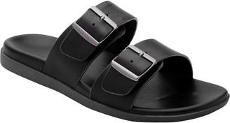 Vionic Men's Leather Ludlow Slide Sandals - Charlie
