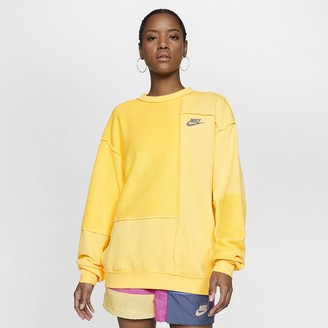 Nike Women's Fleece Crew Sportswear Icon Clash
