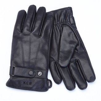 Royce Leather Royce New York Personalized Men's Leather Lambskin Gloves