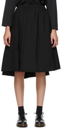 Comme des Garçons Comme des Garçons Black Tropical Wool Midi Skirt