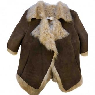 Marni Brown Fur Coat for Women