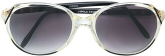 Yves Saint Laurent Pre Owned Transparent Frame Sunglasses