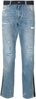 Dolce & Gabbana panel distressed jeans
