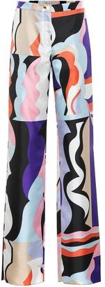 Emilio Pucci Printed silk-twill pants