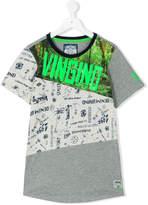 Vingino neon logo print T-shirt