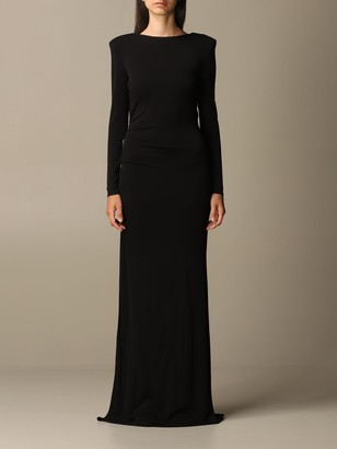 Elisabetta Franchi Celyn B. Elisabetta Franchi Dress Long, Long Sleeves Jersey With Back Slit
