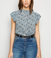 New Look Floral Frill High Neck Top