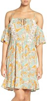 Maaji Women's 'Botanic Sandy' Cold-Shoulder Cover-Up Dress