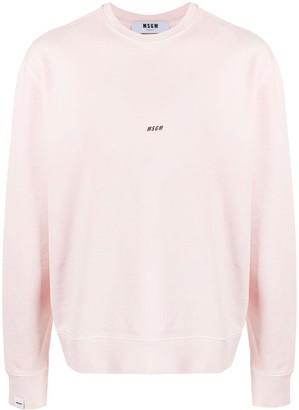MSGM Logo-Print Relaxed-Fit Sweatshirt