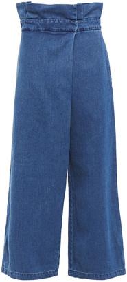 Mara Hoffman Nikko Wrap-effect High-rise Wide-leg Jeans