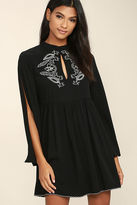 MinkPink Mink Pink Valley of the Vine Black Embroidered Dress
