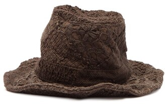 By Walid Firas French-crochet Cotton Hat - Brown