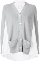 Sacai block panel cardigan - women - Cotton/Polyester - 2