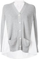Sacai block panel cardigan - women - Cotton/Polyester - 2