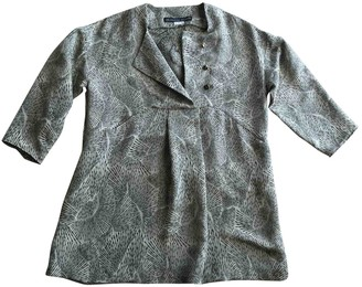 Les Prairies de Paris Beige Silk Dress for Women