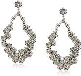Azaara Crystal Normandie Silver-Tone and Swarovski Crystal Drop Earrings