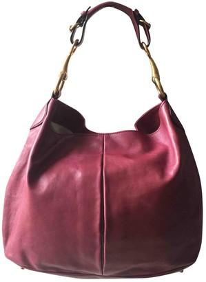 Gucci Hobo Burgundy Leather Handbags