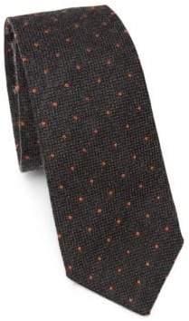 Brunello Cucinelli Polka Dot Wool& Silk Tie