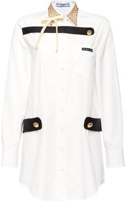 Prada studded collar shirt dress