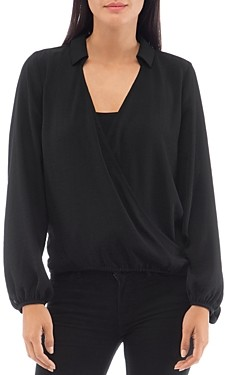 Bobeau B Collection by Faux-Wrap Top