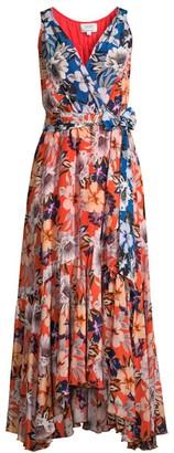 Johnny Was Jade Priyanka Floral Silk Wrap Dress