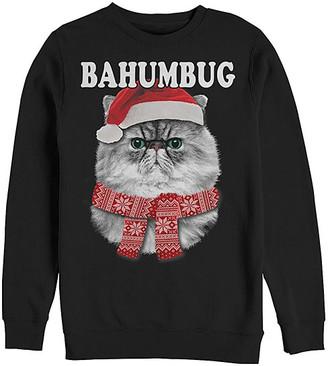 Fifth Sun Men's Sweatshirts and Hoodies BLACK - Black Cat 'Bahumbug' Sweatshirt - Men