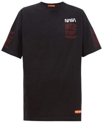 Heron Preston Nasa-embroidered Cotton T-shirt - Mens - Black Multi