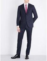 Corneliani Birds eye-print slim-fit wool suit