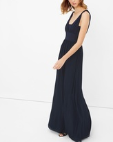 White House Black Market Genius Chiffon Convertible Navy Gown