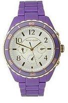 Tommy Hilfiger Multifunction Purple Plastic Womens Watch 1781102