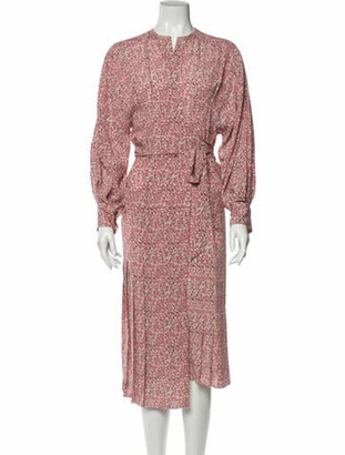 Isabel Marant Silk Midi Length Dress Pink
